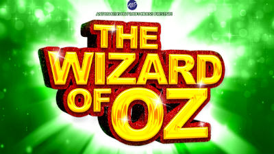 Wizard of Oz in big yellow letters against a bright green background.