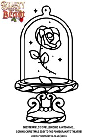 Beauty And The Beast Colouring Sheet Rose (1)